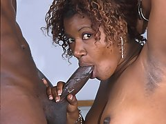 Rack em up this ebony babe gets fucked on the pool table