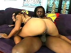 Sex adventure with splendid black chubby woman