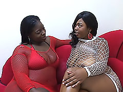 Ebony BBWs explore their every fold
